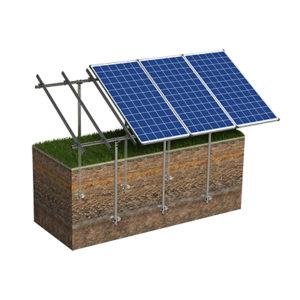Aurinkopaneelien perustaminen kierrepaaluilla